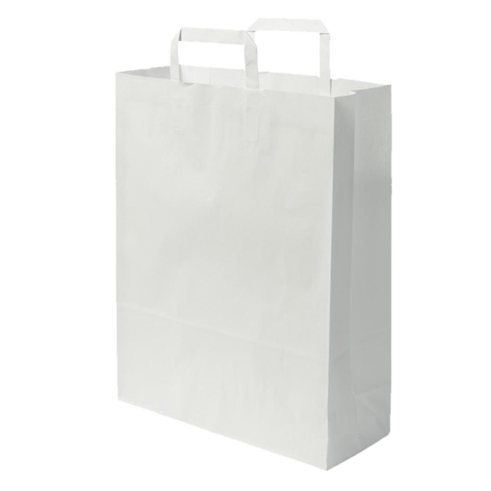 Papírtáska Gasztro (32 x 17 x 44 cm) fehér